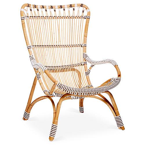 Chantal High-Back Chair, White