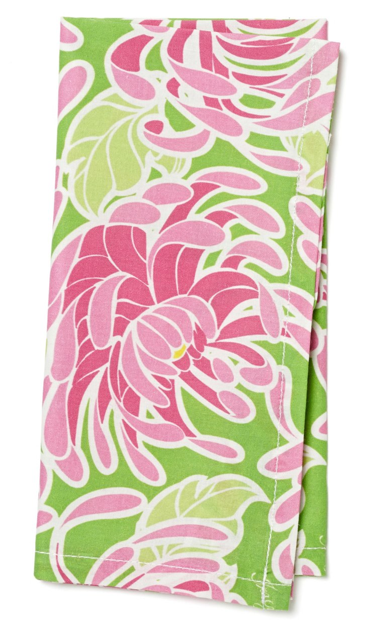 S/4 Pink Spider Lilly Napkins