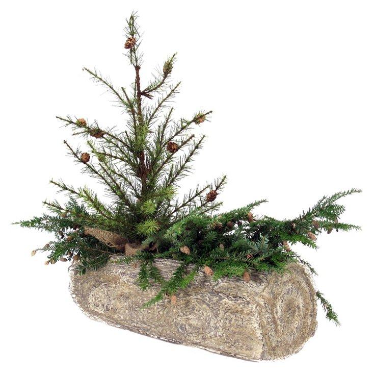 Log Planter