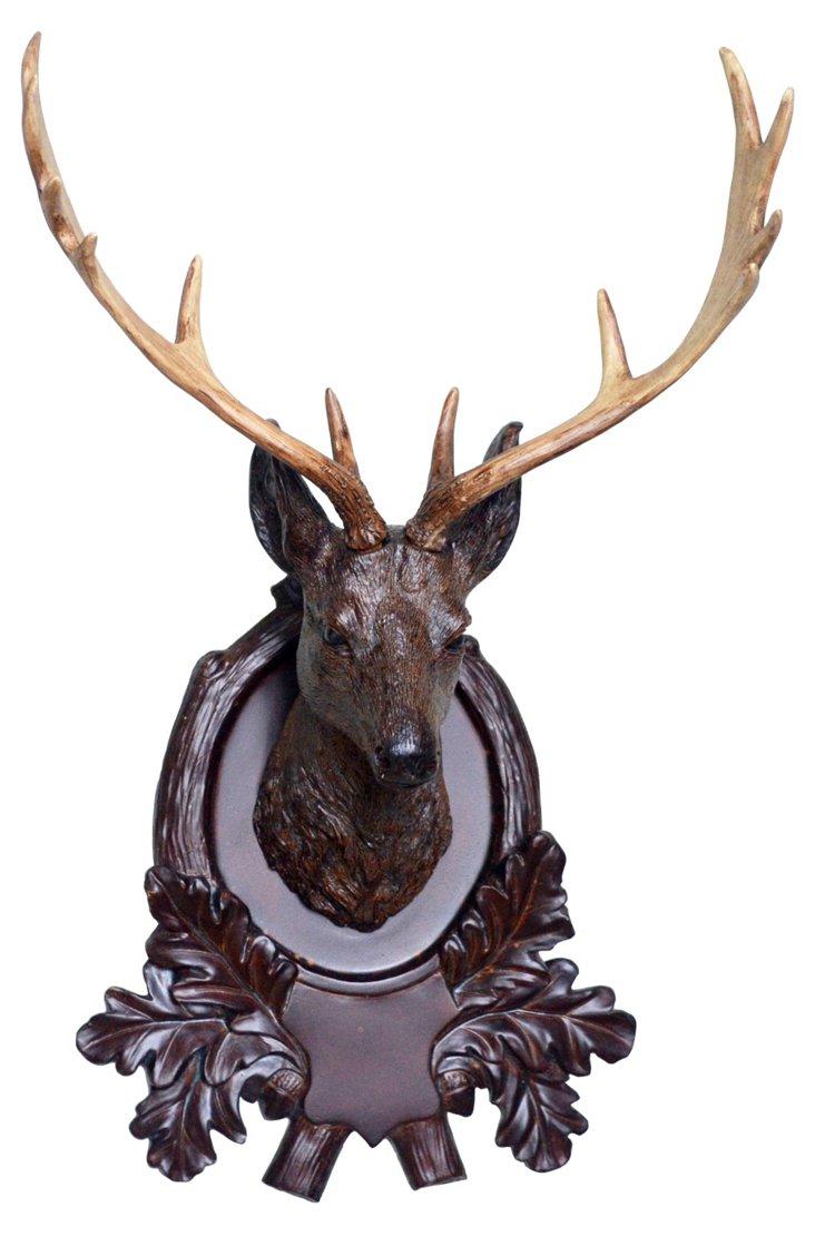 Faux Deer-Head Plaque, Natural