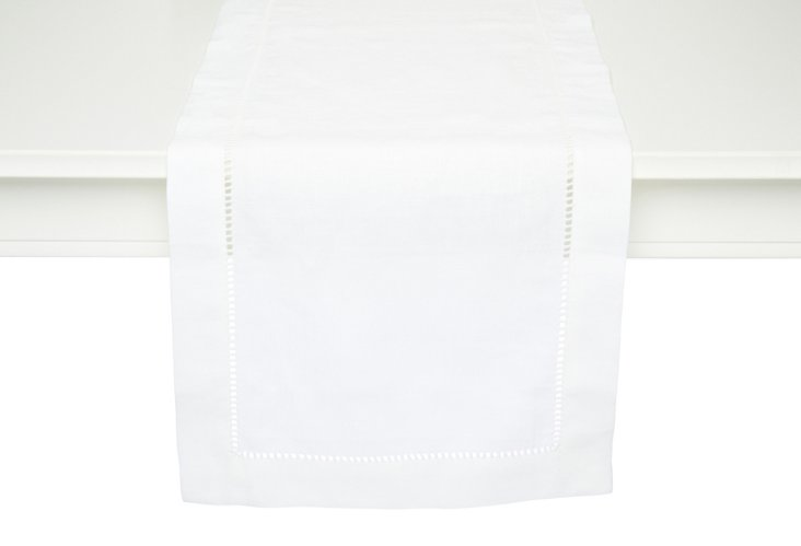 LINEN TABLE RUNNER 2(14x72)  White