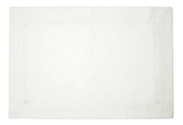 S/4 Place Mats, White
