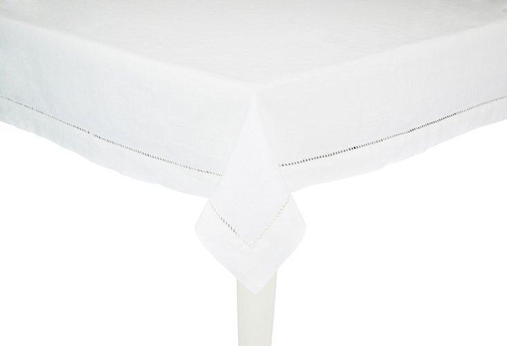Medium Linen Tablecloth, White