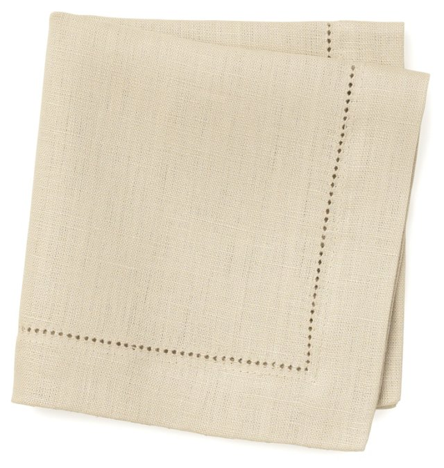 S/6 Linen Cocktail Napkins, Flax