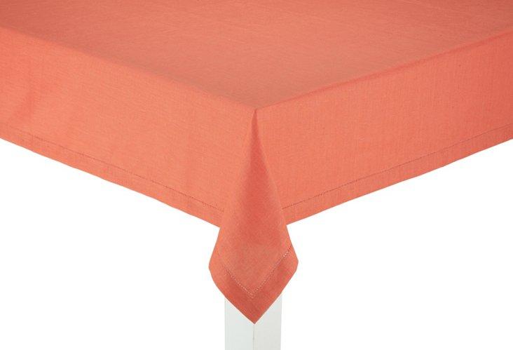 Linen Tablecloth, Coral