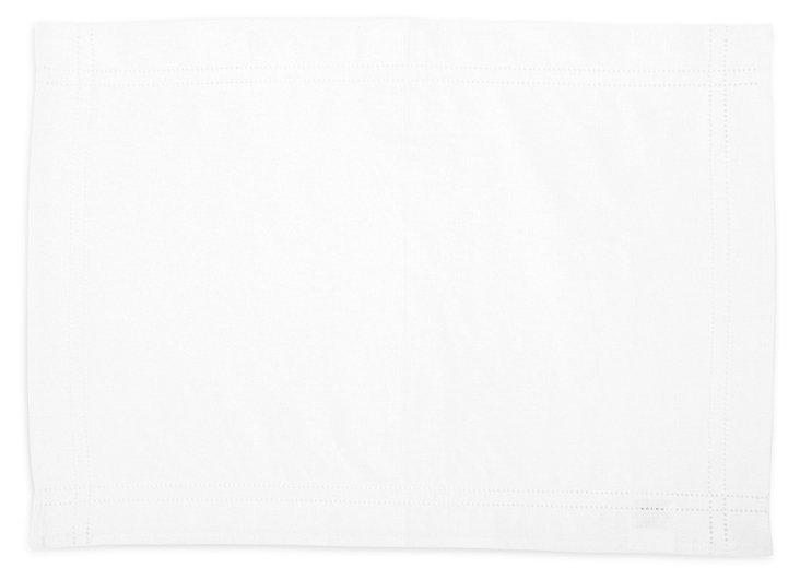S/4 Heirloom Place Mats, White