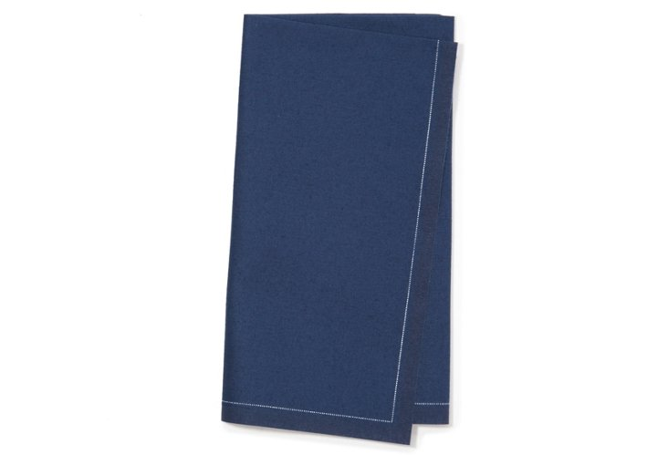 S/12 Dinner Napkins, Blue