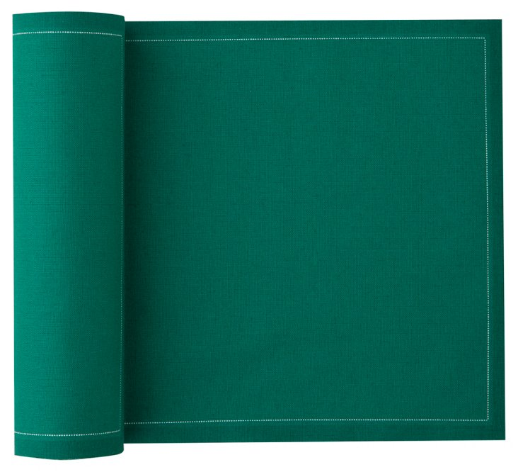 S/12 Place Mats, Emerald Green
