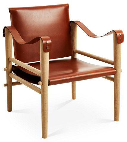 Toulouse Accent Chair, Whiskey Leather - Temps Libre - Brands | One ...