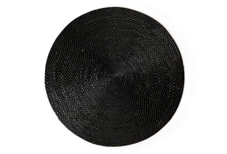 Black Round Placemat
