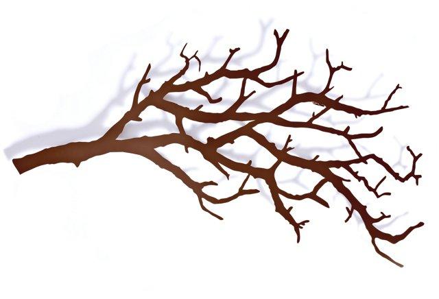 Large Tree Branch Hooks, Bronze