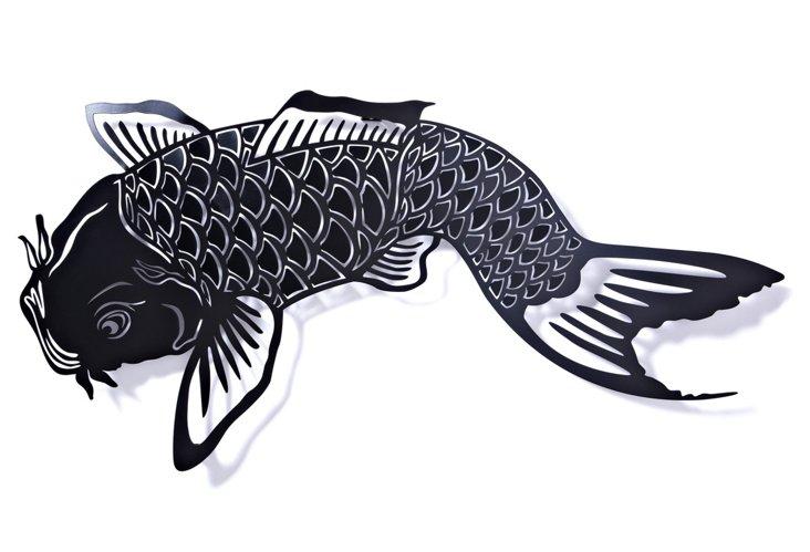 Large Koi Hook, Black