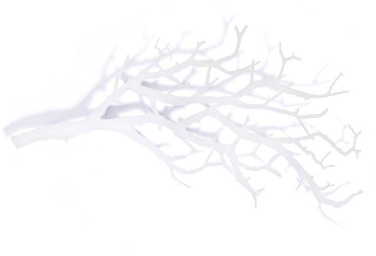 Large Tree Branch Hooks, White