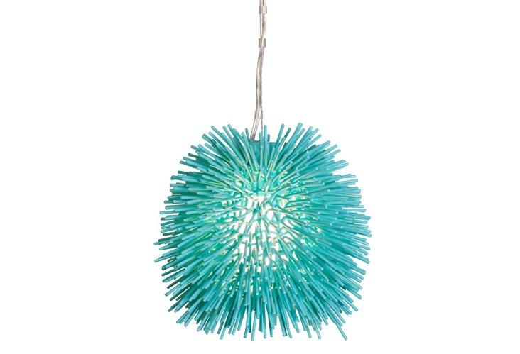 Urchin Mini Pendant, Aqua