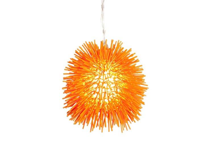 Urchin 1-Light Mini Pendant, Orange