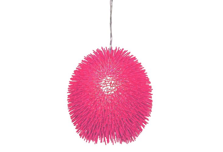 Urchin 1-Light Pendant, Pink