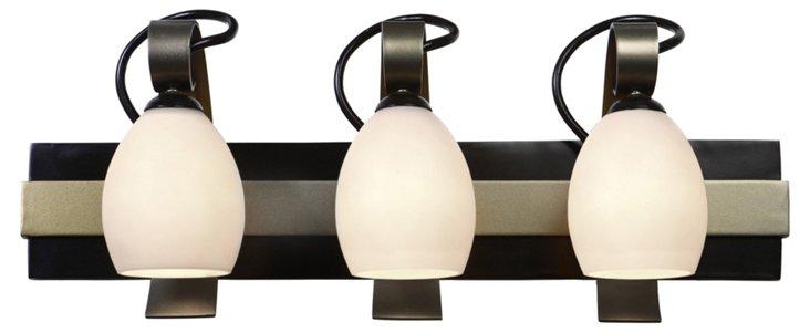 Grove 3-Light Vanity, Gloss Black