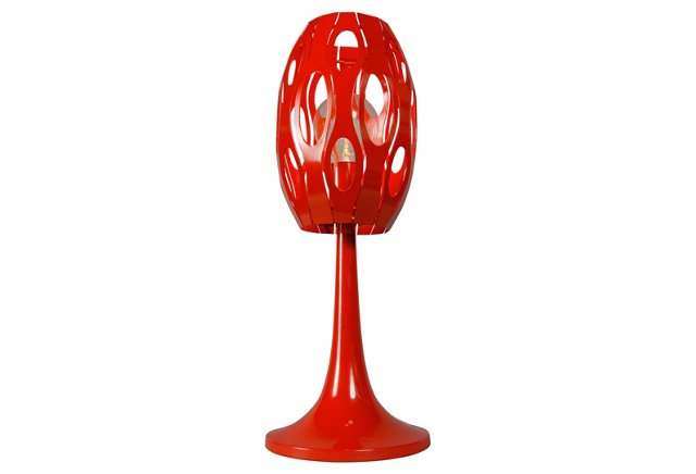 Masquerade Table Lamp, Tangerine