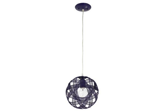 Mesh Sphere Mini Pendant, Grape