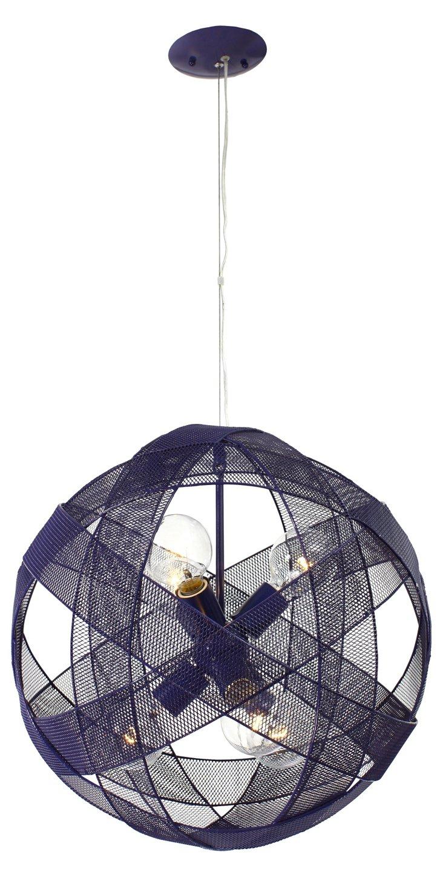 Mesh Sphere 6-light Pendant, Grape