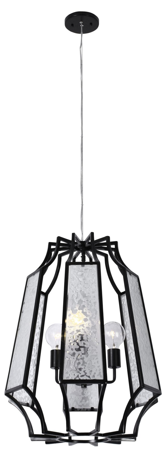 Harper 3-Light Pendant, Black