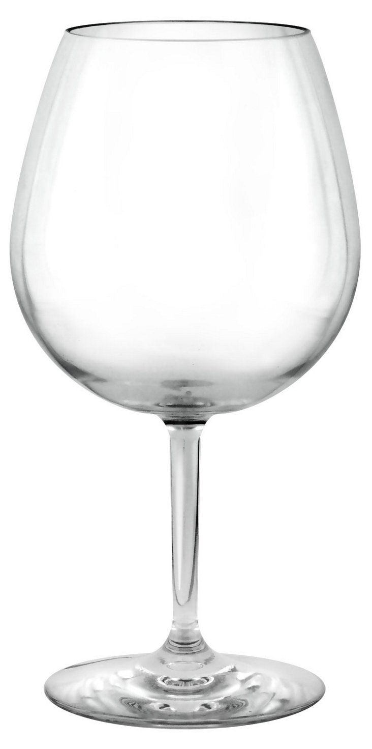 S/4 Unbreakable Red-Wine Glasses