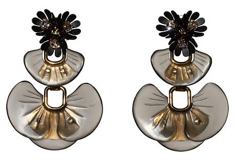 Island Earrings, Black