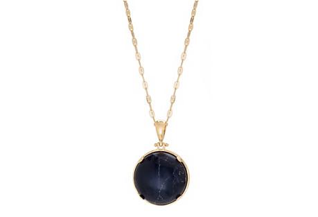 Full Moon Pendant Necklace, Black/White