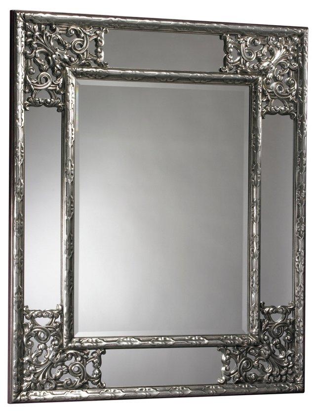 Benton Wall Mirror, Silver
