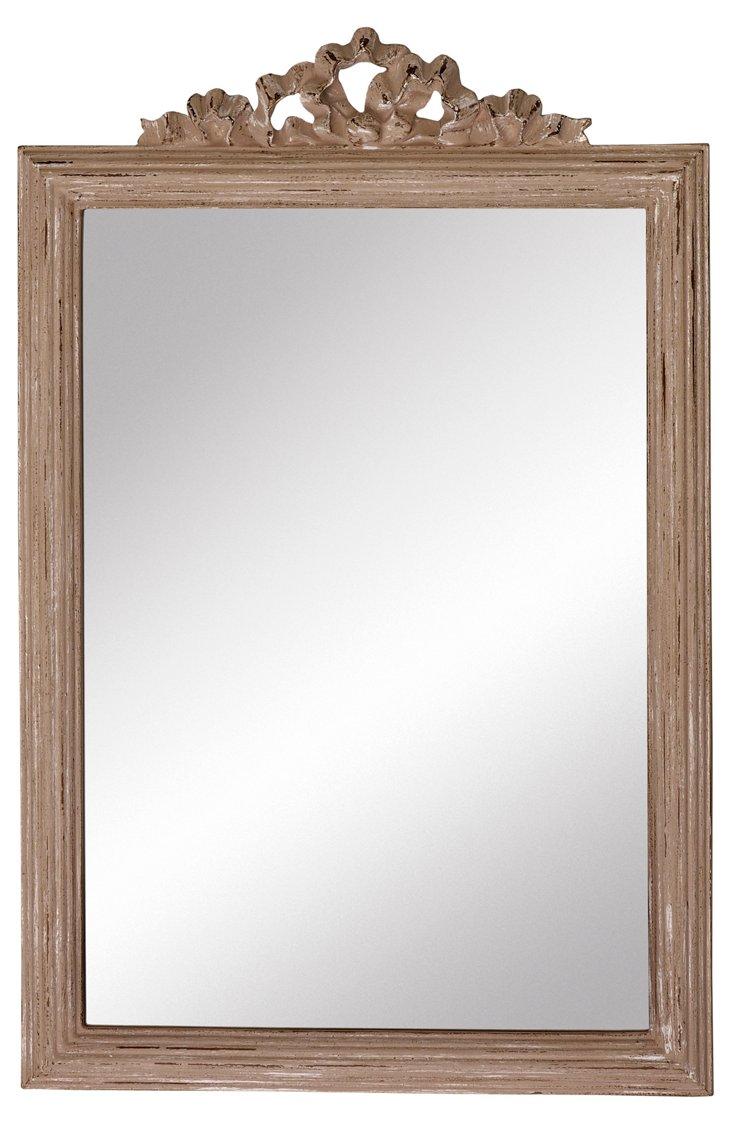 Dalton Wall Mirror, Beige
