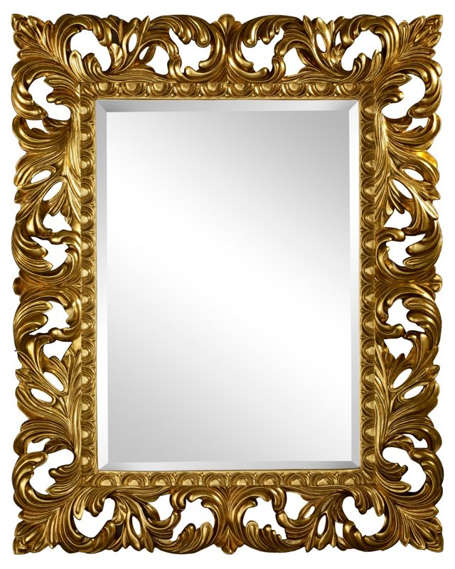Manchester Wall Mirror, Gold
