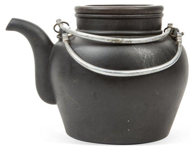 Chinese Black Earthenware Teapot