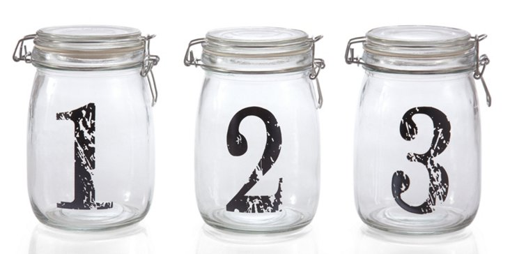 S/3 Assorted Bail & Trigger Jars
