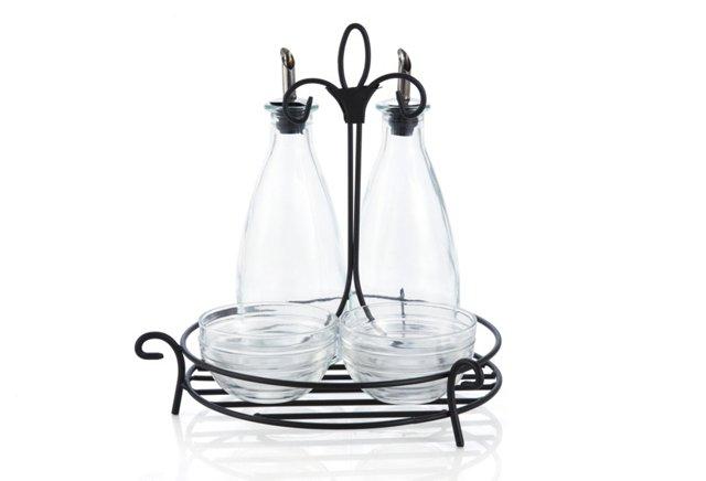 Villa Oil & Vinegar Set w/ Dipping Bowls