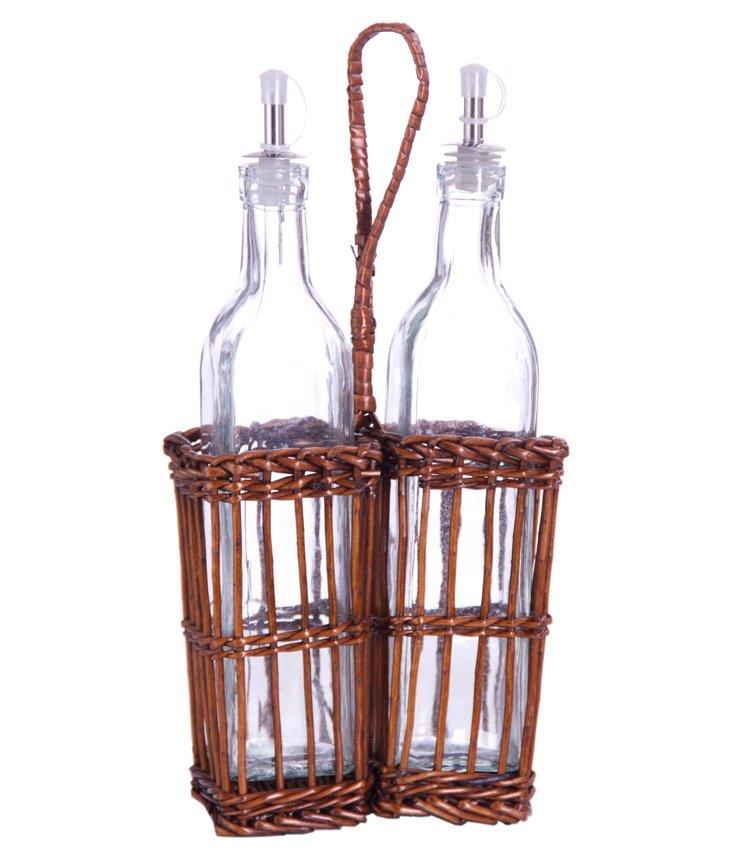 Willow Oil & Vinegar Basket Set