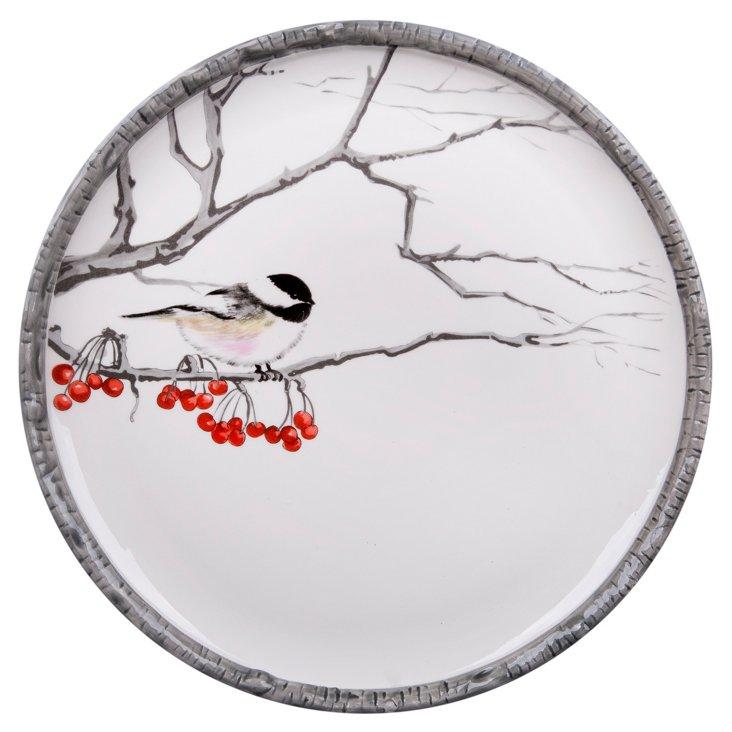 Winter Chick Dinner Plate