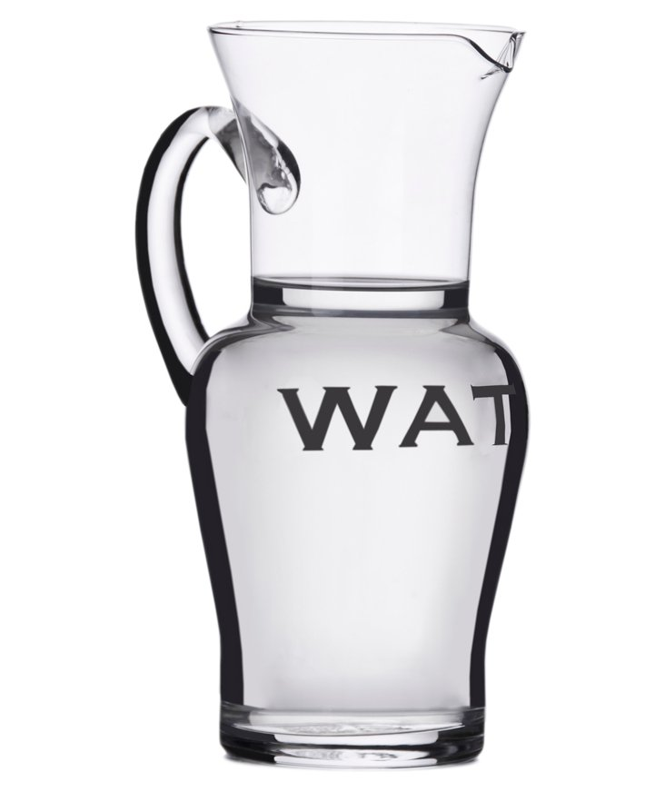 """Glass """"Water"""" Pitcher"""
