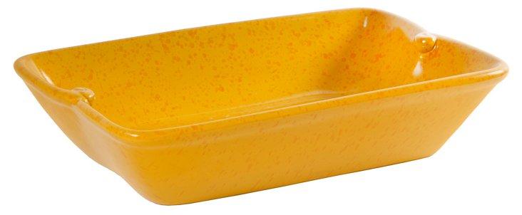 "14"" Ceramic Calabria Baker, Yellow"