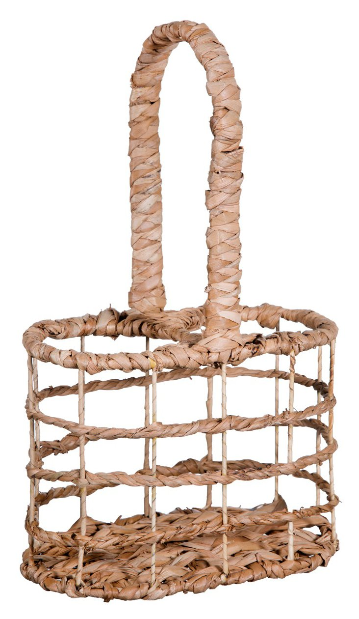 Reed-Wrapped Bottle Caddy