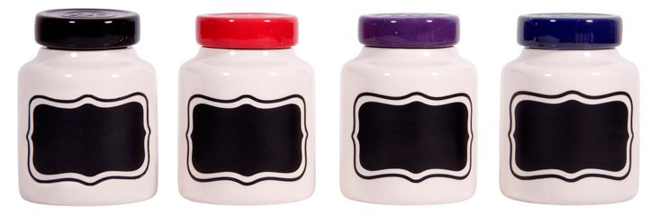 Chalk It Up Round Canister Set, 14 Oz