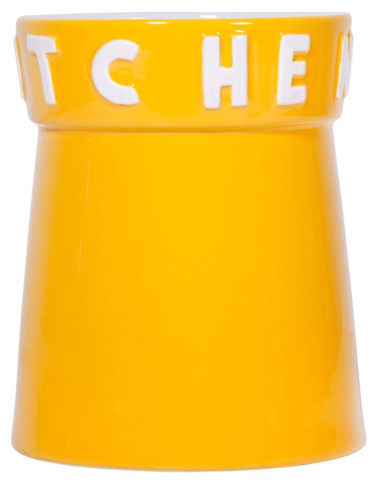 """Kitchen"" Utensil Holder, Yellow"