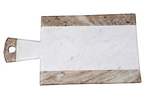 "Beige Marble Cheese Paddle, 15""*"