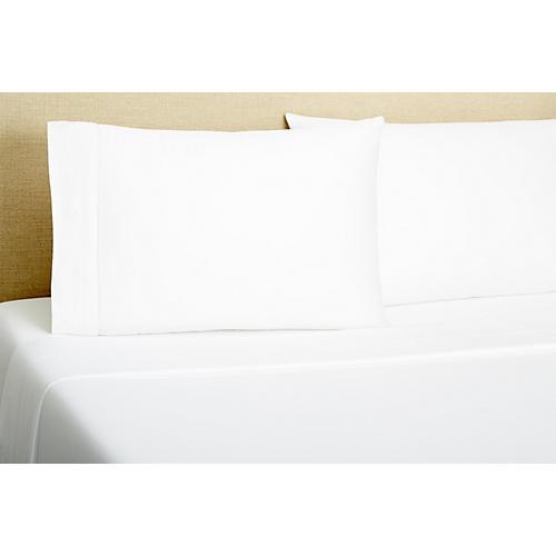 Hemstitch Sheet Set, White