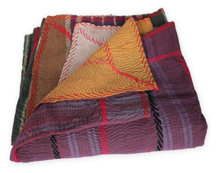 Hand-Stitched Kantha Throw, Susan
