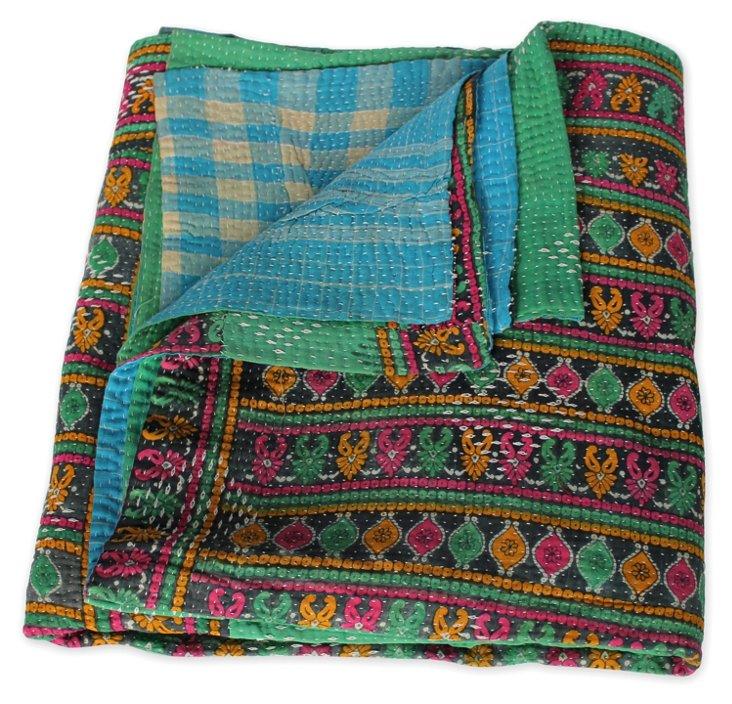Hand-Stitched Kantha Throw, Stephanie