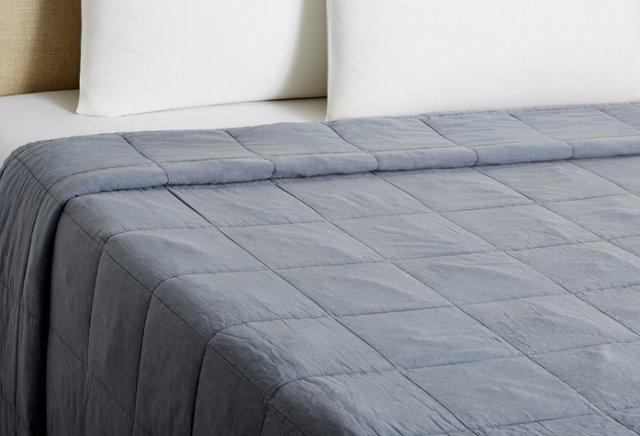 Stonewash Vagabond Cotton Blanket, Ocean