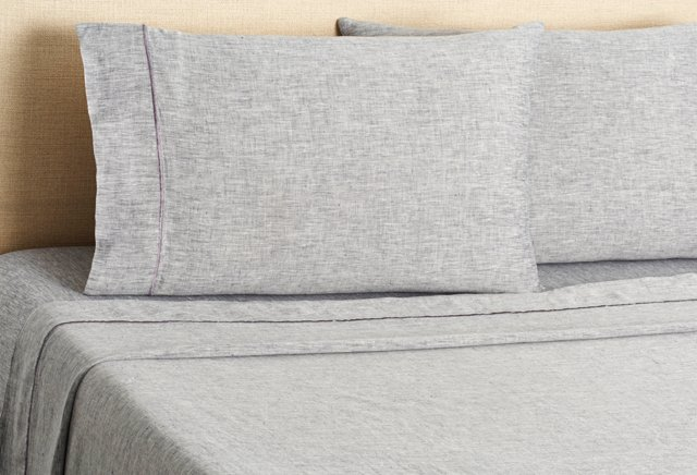 Linen Sheet Set, Gray