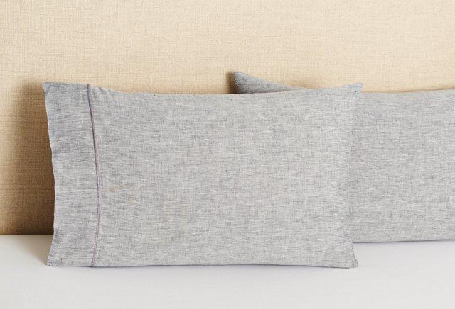 S/2 Linen King Pillowcases