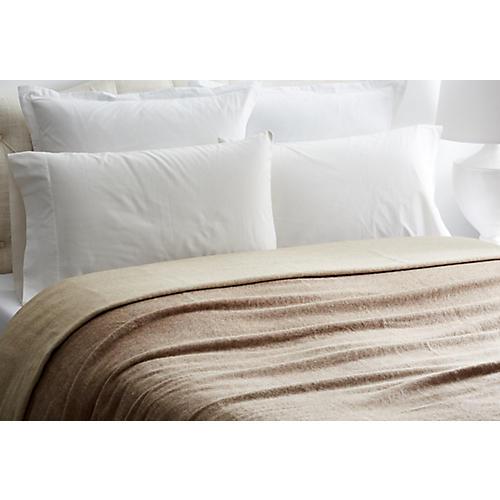 Australian Wool Blanket, Ivory