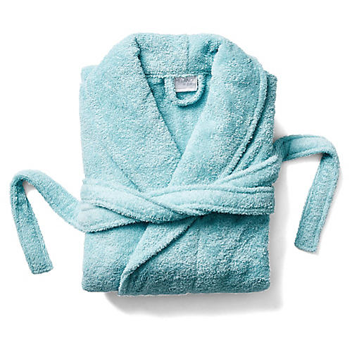 Turkish Cotton Bathrobe, Reef Aqua